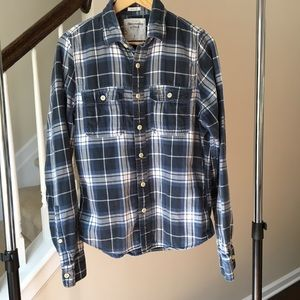 Abercrombie & Fitch Men's Muscle Flannel Large
